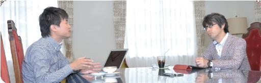 株式会社ループスコミュニケーションズ 岡村 健右氏/株式会社大和広告 代表取締役 花崎 章